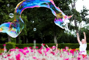What is the secret to making giant bubbles?