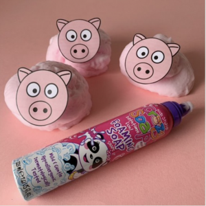 Making pink foam pigs