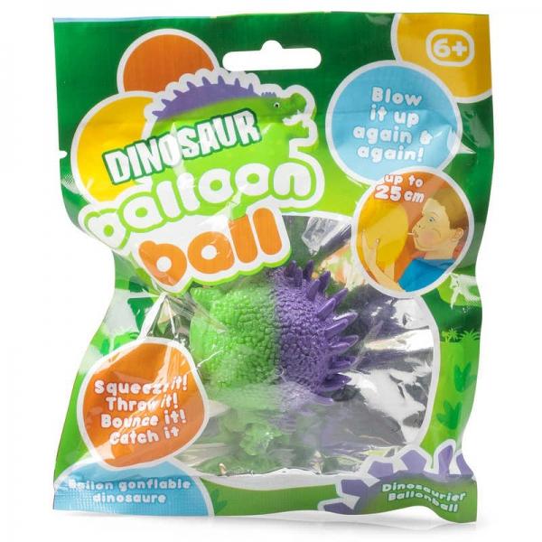 Dinosaur Balloon packaged