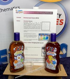 Colour changing bubble bath kit